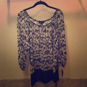 NWT. Sheer blouse.
